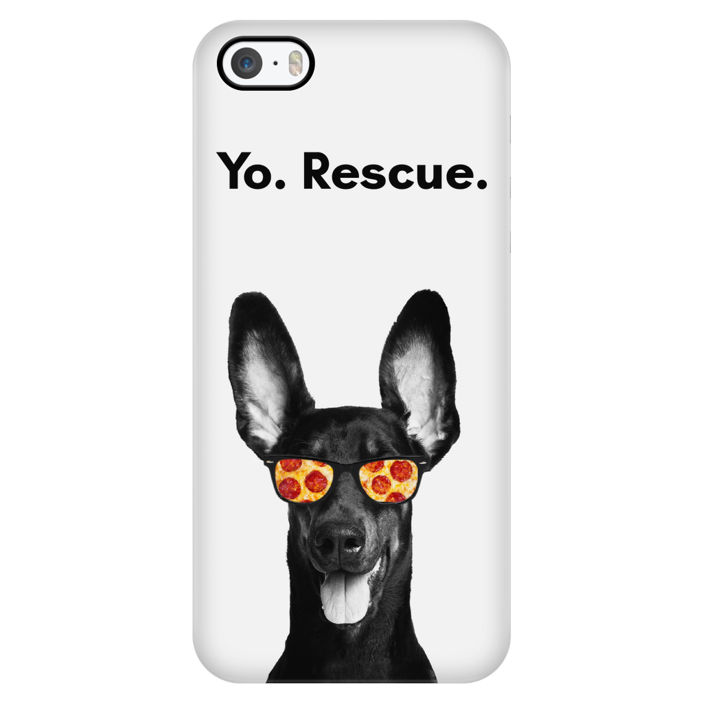 iPhone 5/5s Yo Rescue Pizza Dog Phone Case with Ultra Slim Durable Profile