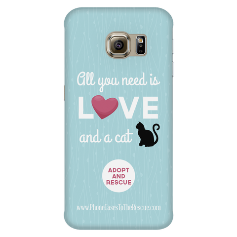 Samsung Galaxy S6 Edge Cute Black Cat Phone Case with Ultra Slim Durable Profile