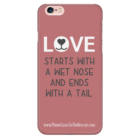 iPhone 6/6s Where Love Starts Phone Case with Ultra Slim Durable Profile