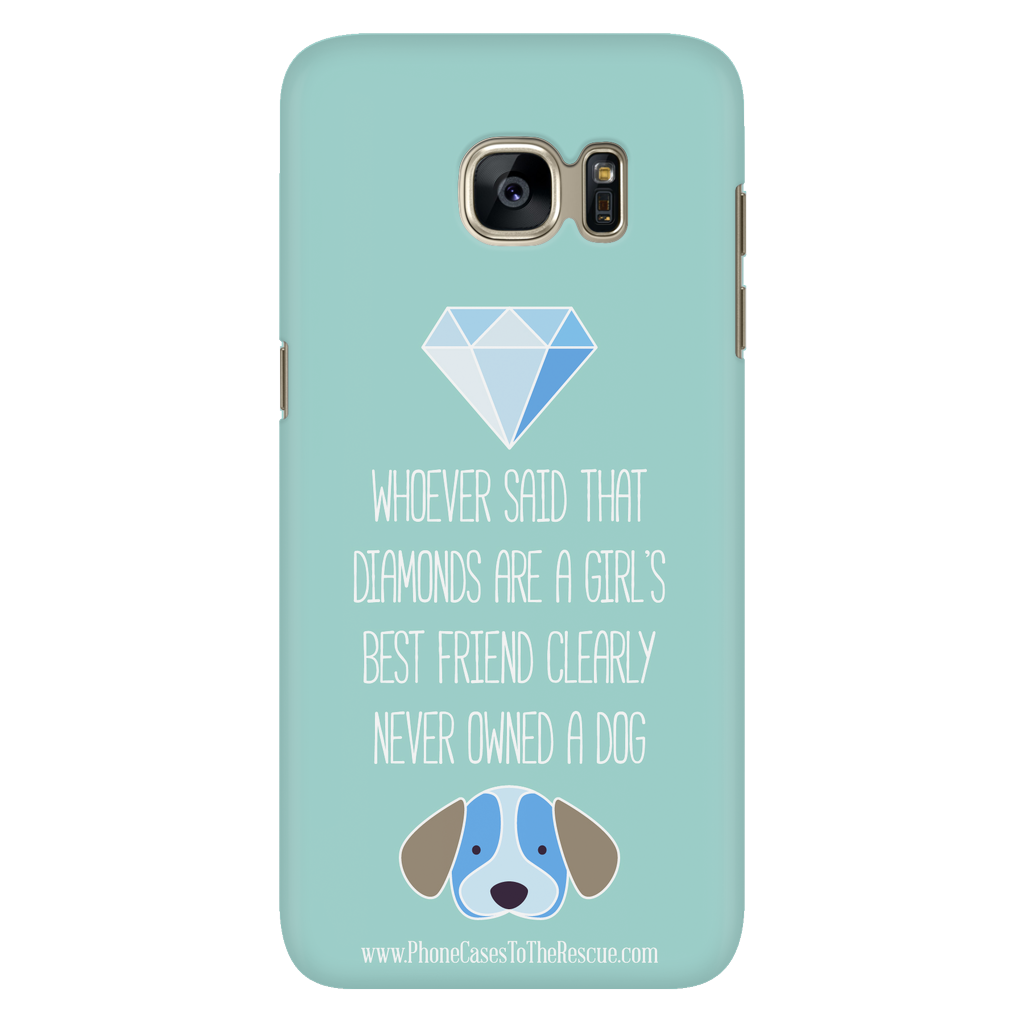 Samsung Galaxy S7 Diamonds Are a Girl's Best Friend Phone Case with Ultra Slim Durable Profile