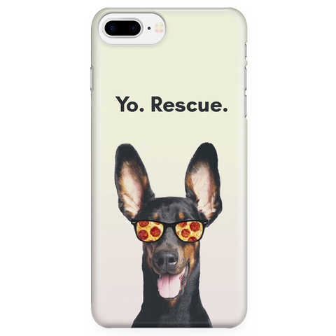 iPhone 7/7s Plus Yo Rescue Pizza Dog Phone Case with Ultra Slim Durable Profile