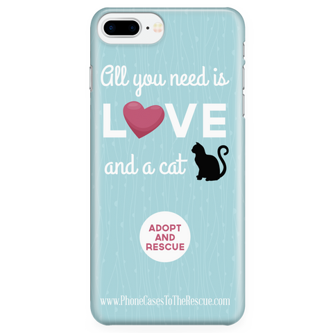 iPhone 7/7s Plus Cute Black Cat Phone Case with Ultra Slim Durable Profile