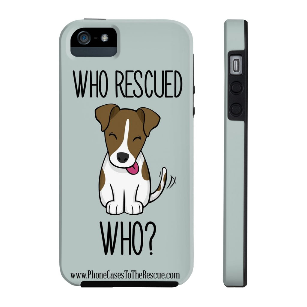 iPhone 5/5s/5se Who Rescued Who Phone Case with Tough Rugged Protection