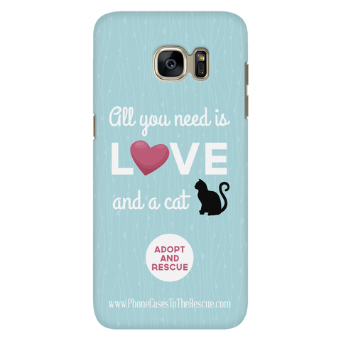Samsung Galaxy S7 Cute Black Cat Phone Case with Ultra Slim Durable Profile