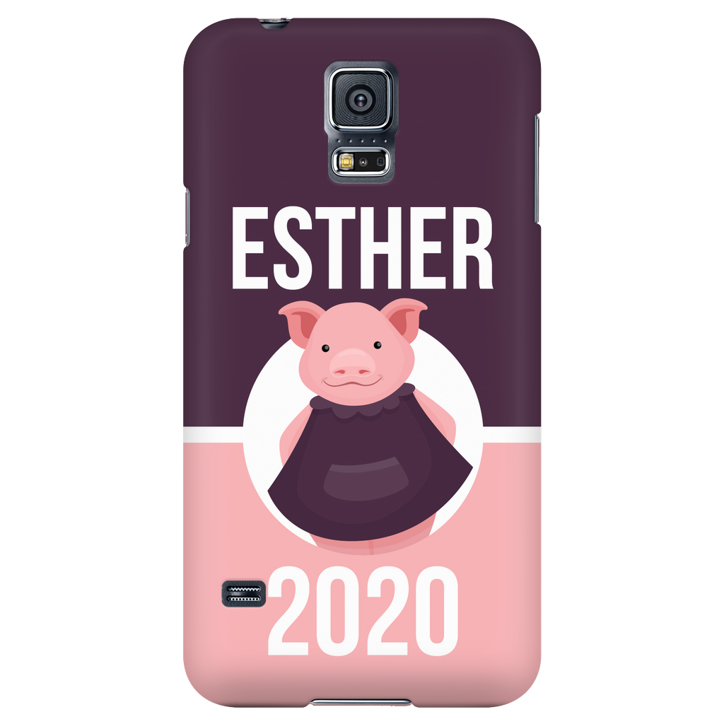 Samsung Galaxy S5 Esther 2020 Pink and Purple Phone Case with Ultra Slim Profile