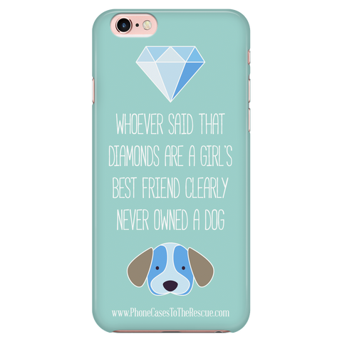 iPhone 6/6s Diamonds Are a Girl's Best Friend Phone Case with Ultra Slim Durable Profile