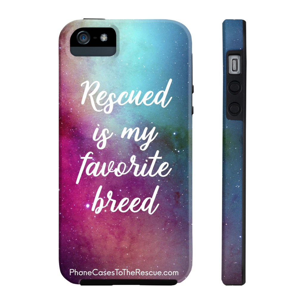 iPhone 5/5s/5se Rescued Is My Favorite Phone Case with Tough Rugged Protection