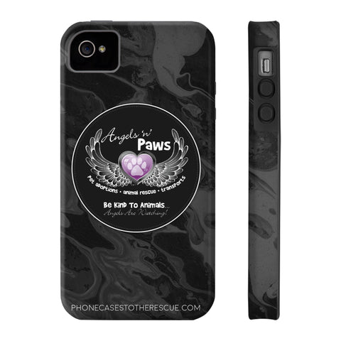 iPhone 4/4s Angels n Paws Collaboration Case with Tough Rugged Protection