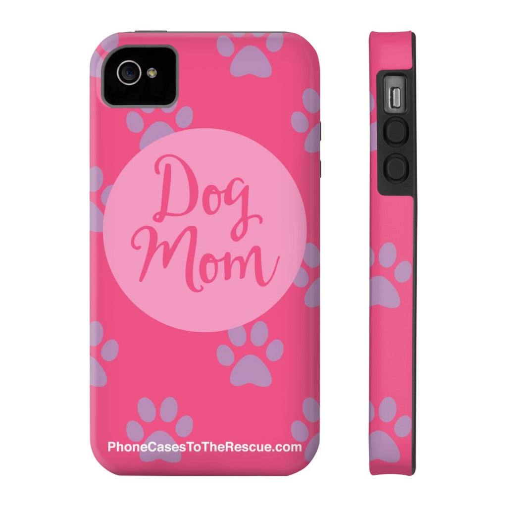 iPhone 4/4s Dog Mom Phone Case with Tough Rugged Protection