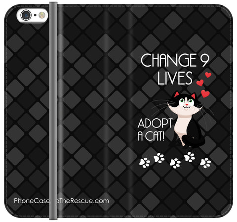 Change 9 Lives Folio Case - iPhone 6/6S PLUS