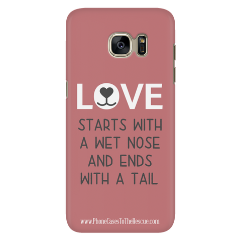 Samsung Galaxy S7 Where Love Starts Phone Case with Ultra Slim Durable Profile