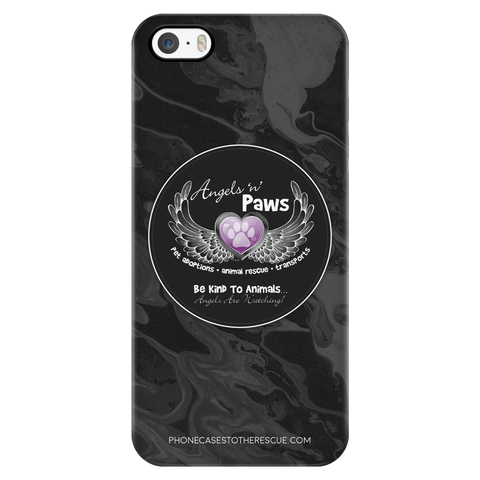 iPhone 5/5s Angels n Paws Collaboration Phone Case with Ultra Slim Durable Profile