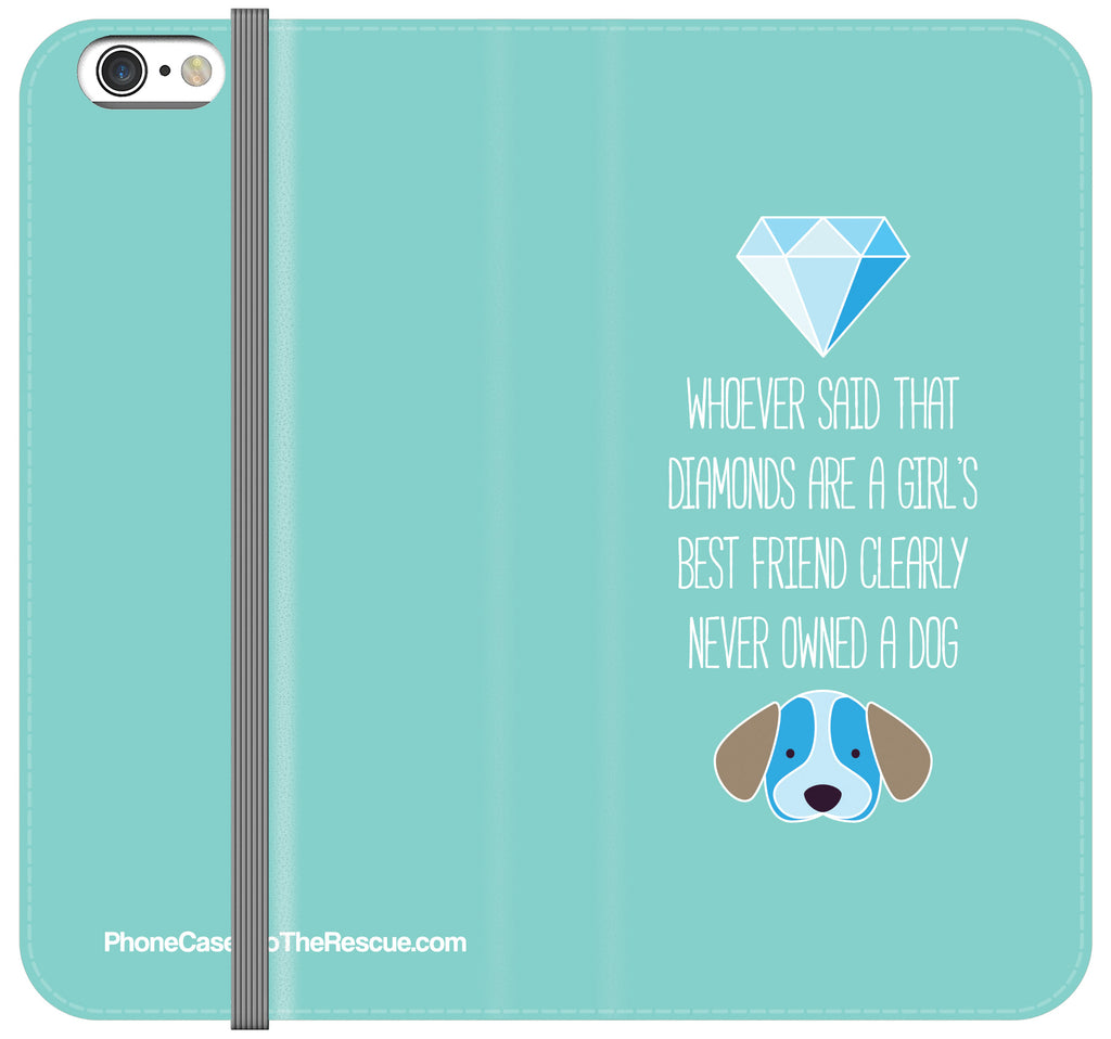 Diamonds & Dogs Folio Case - iPhone 7 PLUS/8 PLUS