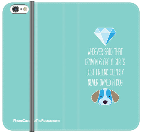 Diamonds & Dogs Folio Case - iPhone 6/6S PLUS