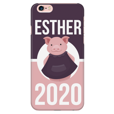 iPhone 6/6s Esther 2020 Pink and Purple Phone Case with Ultra Slim Durable Profile