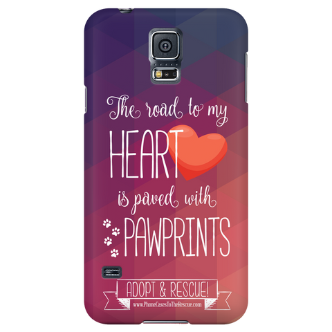Samsung Galaxy S5 Paved with Pawprints Phone Case with Ultra Slim Profile