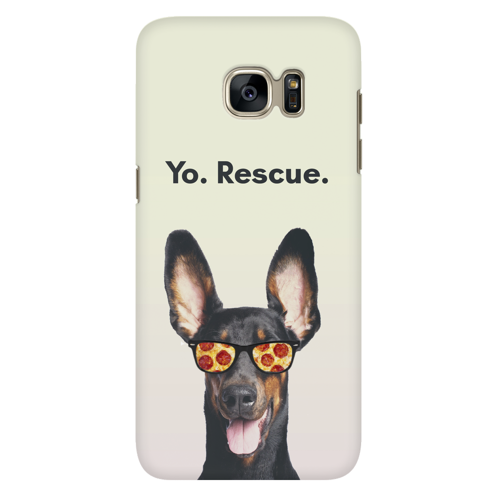 Samsung Galaxy S7 Yo Rescue Pizza Dog Phone Case with Ultra Slim Durable Profile