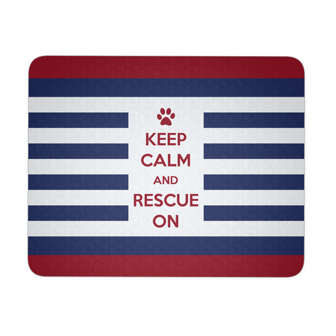 Keep Calm And Rescue On Patriotic Mousepad