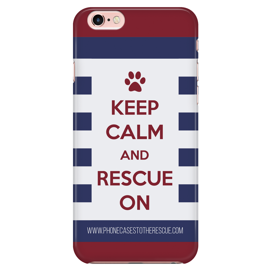 iPhone 7/7s Keep Calm and Rescue On Patriotic Phone Case with Ultra Slim Durable Profile