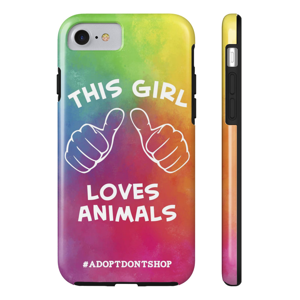 iPhone 7 For the Love of Animals Phone Case with Tough Rugged Protection