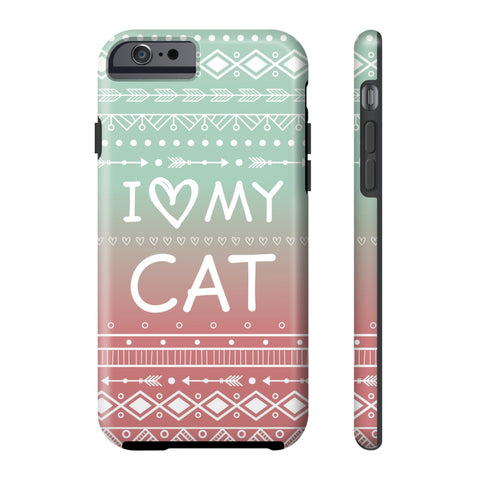 iPhone 6/6s I Love My Cat Phone Case with Tough Rugged Protection