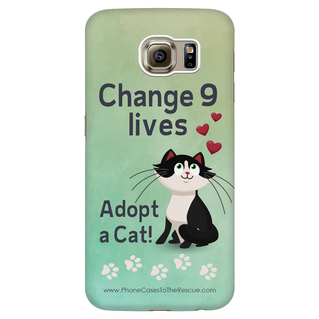 Samsung Galaxy S6 Change 9 Lives Cat Phone Case with Ultra Slim Profile