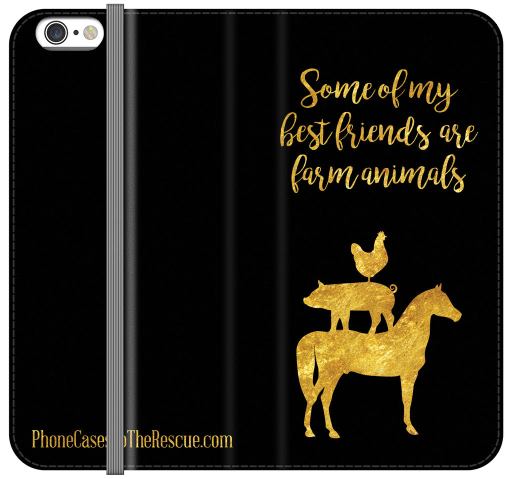 Farm Animals Folio Case - Galaxy S6 Edge