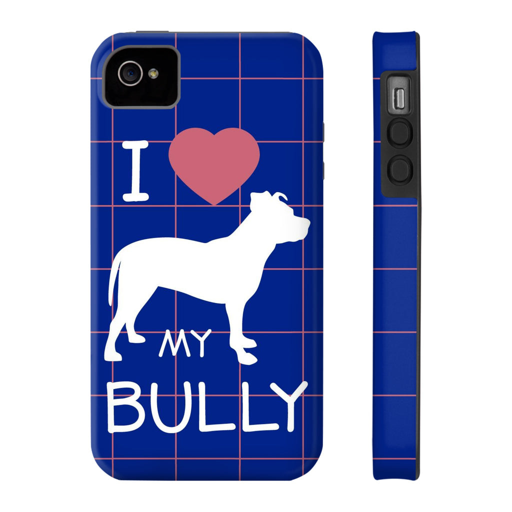 iPhone 4/4s I Love My Bully Phone Case with Tough Rugged Protection