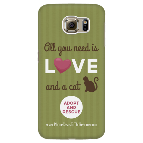 Samsung Galaxy S6 Cute Brown Cat Phone Case with Ultra Slim Durable Profile