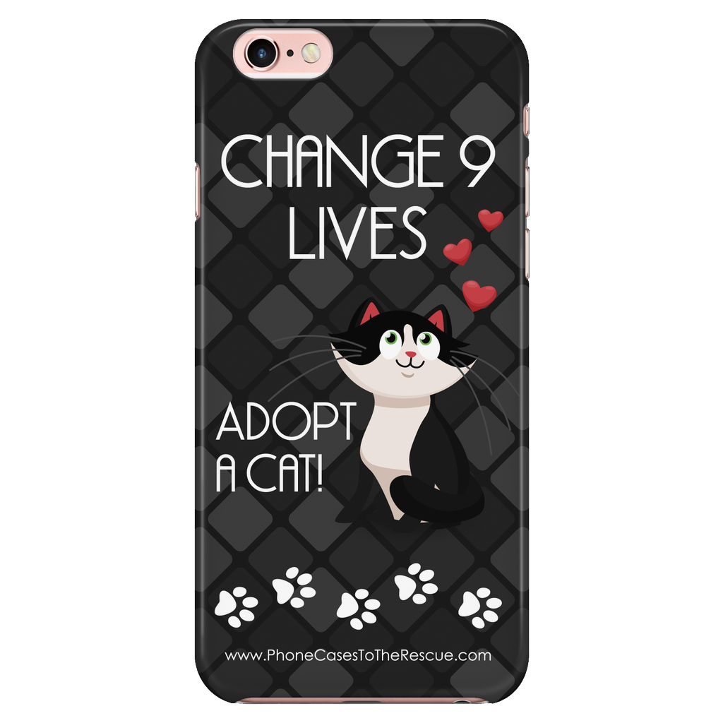 iPhone 7/7s Change 9 Lives Cat Phone Case with Ultra Slim Durable Profile