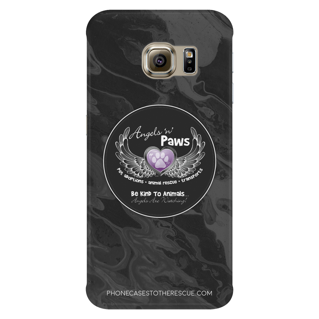 Samsung Galaxy S6 Edge Angels n Paws Collaboration Phone Case with Ultra Slim Durable Profile