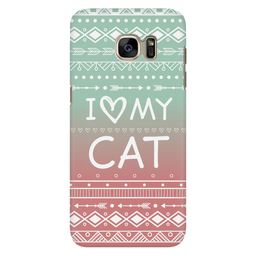 Samsung Galaxy S7 I Love My Cat Phone Case with Ultra Slim Durable Profile