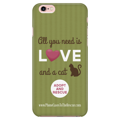 iPhone 7/7s Cute Brown Cat Phone Case with Ultra Slim Durable Profile