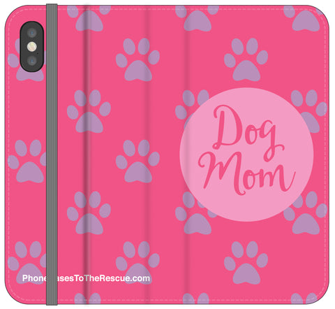 Dog Mom Folio Case - iPhone X