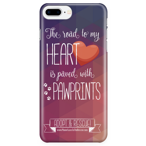 iPhone 7/7s Plus Paved with Pawprints Phone Case with Ultra Slim Durable Profile