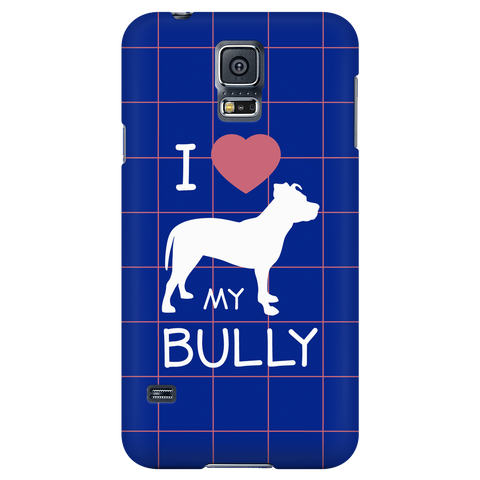 Samsung Galaxy S5 I Love My Bully Phone Case with Ultra Slim Profile
