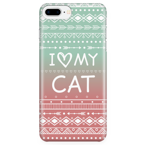 iPhone 7/7s Plus I Love My Cat Phone Case with Ultra Slim Durable Profile