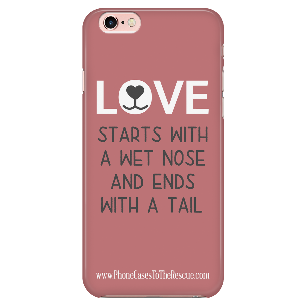 iPhone 7/7s Where Love Starts Phone Case with Ultra Slim Durable Profile