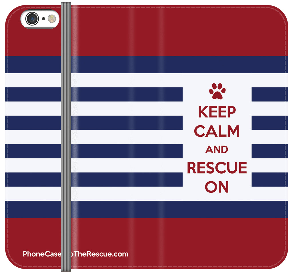 Keep Calm Folio Case - Galaxy S6