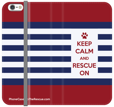 Keep Calm Folio Case - Galaxy S6 Edge