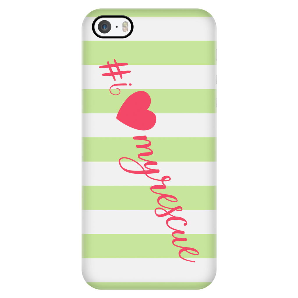 iPhone 5/5s I Love My Rescue Phone Case with Ultra Slim Durable Profile