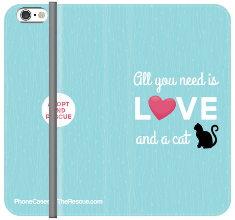 All You Need Is Love Folio Case - Galaxy S7