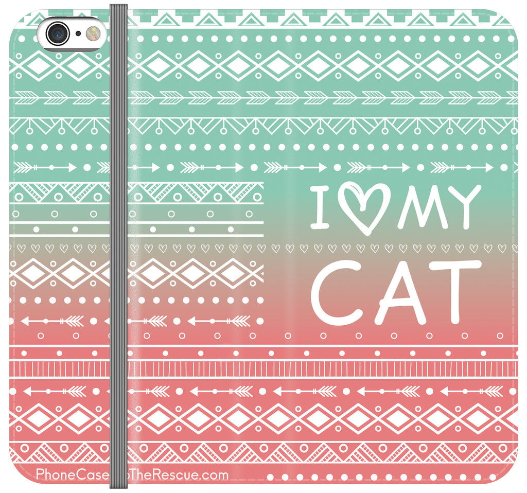 I Love My Cat Folio Case - Galaxy S6