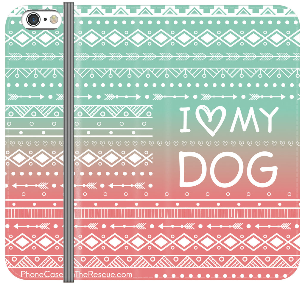 I Love My Dog Folio Case - Galaxy S6