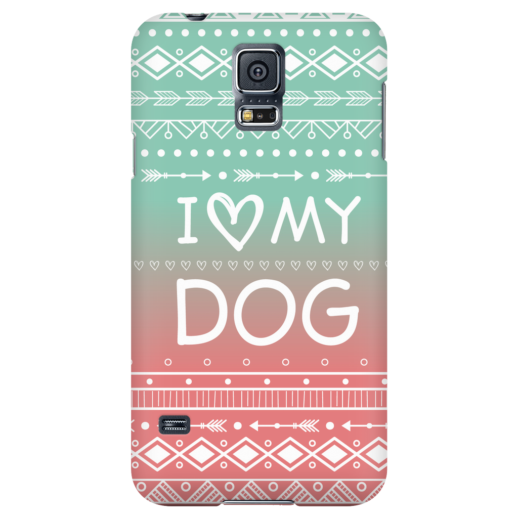Samsung Galaxy S5 I Love My Dog Phone Case with Ultra Slim Profile