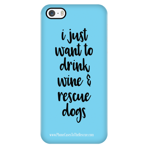 iPhone 5/5s Rescue Dogs Phone Case with Ultra Slim Durable Profile