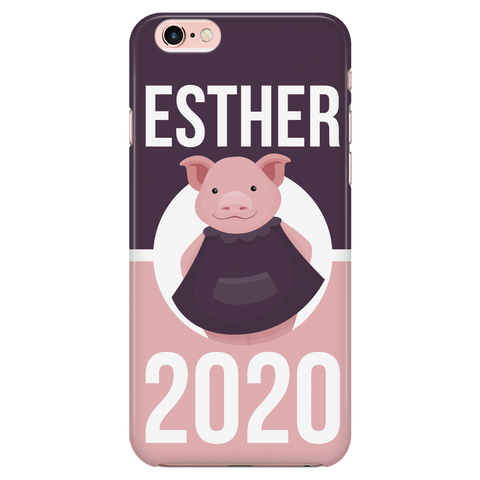 iPhone 7/7s Esther 2020 Pink and Purple Phone Case with Ultra Slim Durable Profile
