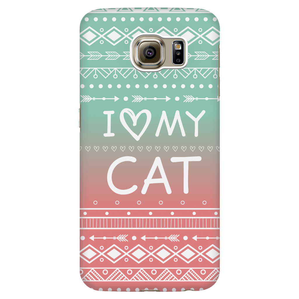 Samsung Galaxy S6 I Love My Cat Phone Case with Ultra Slim Durable Profile