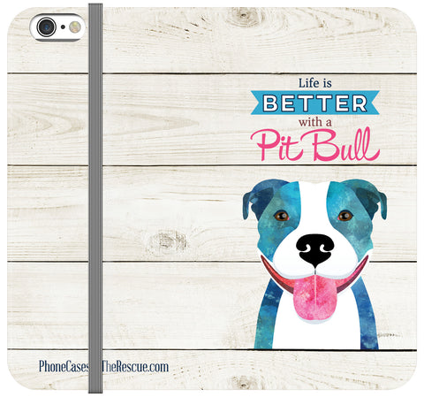 Pit Bull Love Folio Case - Galaxy S6 Edge