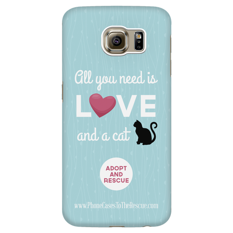 Samsung Galaxy S6 Cute Black Cat Phone Case with Ultra Slim Durable Profile